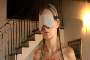 tied, blindfolded and teased