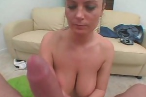brunette hair mother i with large tits sucks a