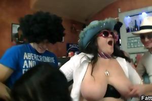 hot fatty blows and copulates lascivious cock