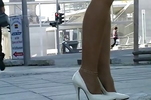stockings und high heels outdoor - megageile sau
