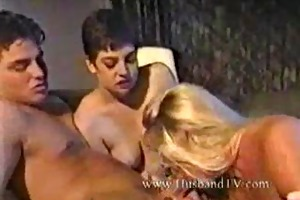youthful guy receive fucked from milfs.threesome