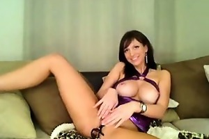 breasty perfect tit hotty uses hitachi and