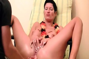 horny dark brown mother i tries anal fisting