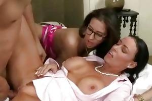 slutty older india summer shares dick