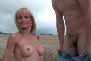 hawt senior lady with large zeppelins gets fucked