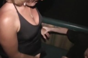 milf jackie team-fucked in the porno theater