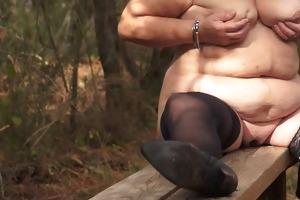 brenda - disrobe in forest