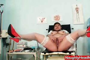 big juggs mature wife wears practical nurse