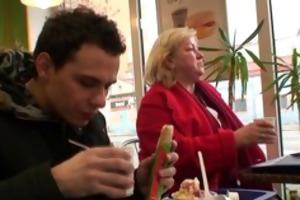 biggest titted granny tastes tasty weenie