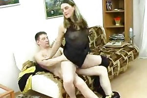 older sweetheart takes corpulent juvenile dick