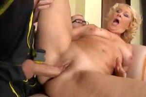granny golden-haired cougar d like to fuck sex by
