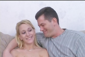 sexy wifey takes cock juice shower
