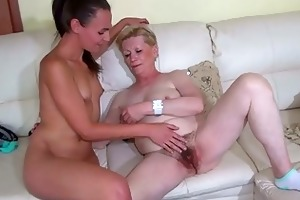 precious juvenile woman and old granny masturbated