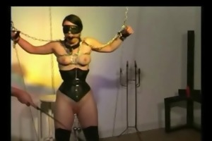 enormous pierced serf with weights on her pierced