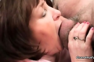 breasty grandma enjoys hardcore sex