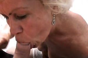 golden-haired grandma ella face hole screwed
