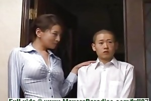 rei kitajima aged japanese whore at home with