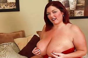 randy redhead bulky momma with large bosom