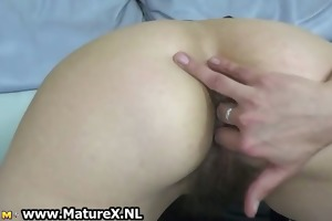 unshaved older housewife t live without finger