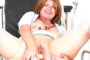 mother i brunette hair playing with herself in