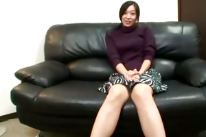 horny asian mature is teasing camera