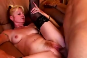 blond older housewife coarse drilled
