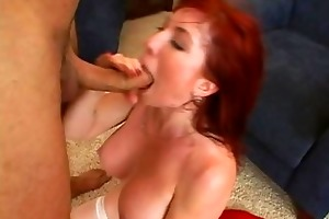 cute busty redhead d like to fuck getting hard