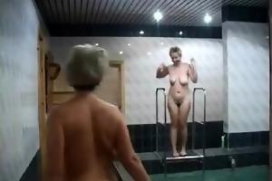 valia and irina int the sauna