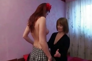 horny and sexually excited lesbian babes take up