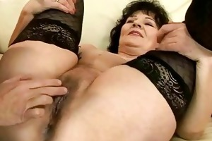 excited granny getting screwed nice-looking hard