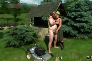 lustful aged redhead wench acquires licked part3