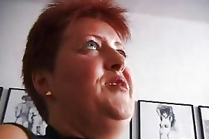excited redhead aged german