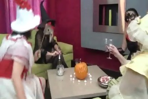 aged ladies on halloween party