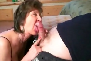 excited oral pleasure with hawt granny