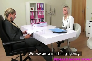 femaleagent hawt slender blond is deliciously lewd