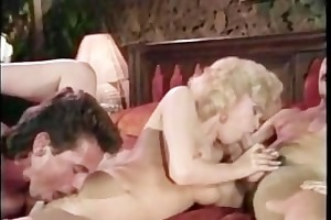 hard threesome banging on couch