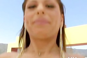 bawdy cleft of beauty team-fucked well