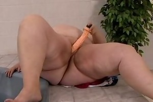 chubby stomach mommys sex toy playing