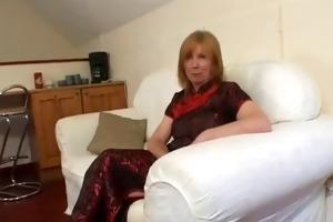 aged british redhead sucks and fucks