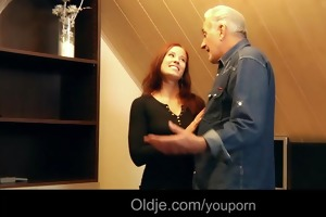 noble older man drilled by grateful young whore