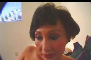hawt granny toying with sex-toy