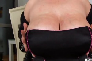 large titted blond bonks and sucks her dildo.