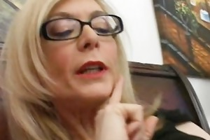 blonde mama in glasses licking unyielding part3