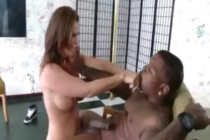 milf pussy ripped when riding black cock