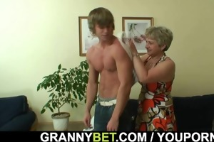 lonely granny gets screwed in various positions