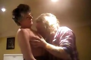 granny with glasses acquires fucked