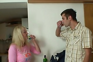 son in law copulates her after pair of drinks