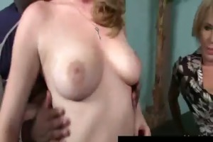 large tit hawt milfs have a fun darksome cockhard