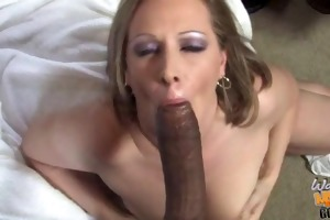 interracial gang group-sex with sexy white mommy