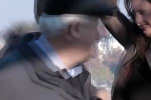 aged euro doxy picks up stranger for fuck